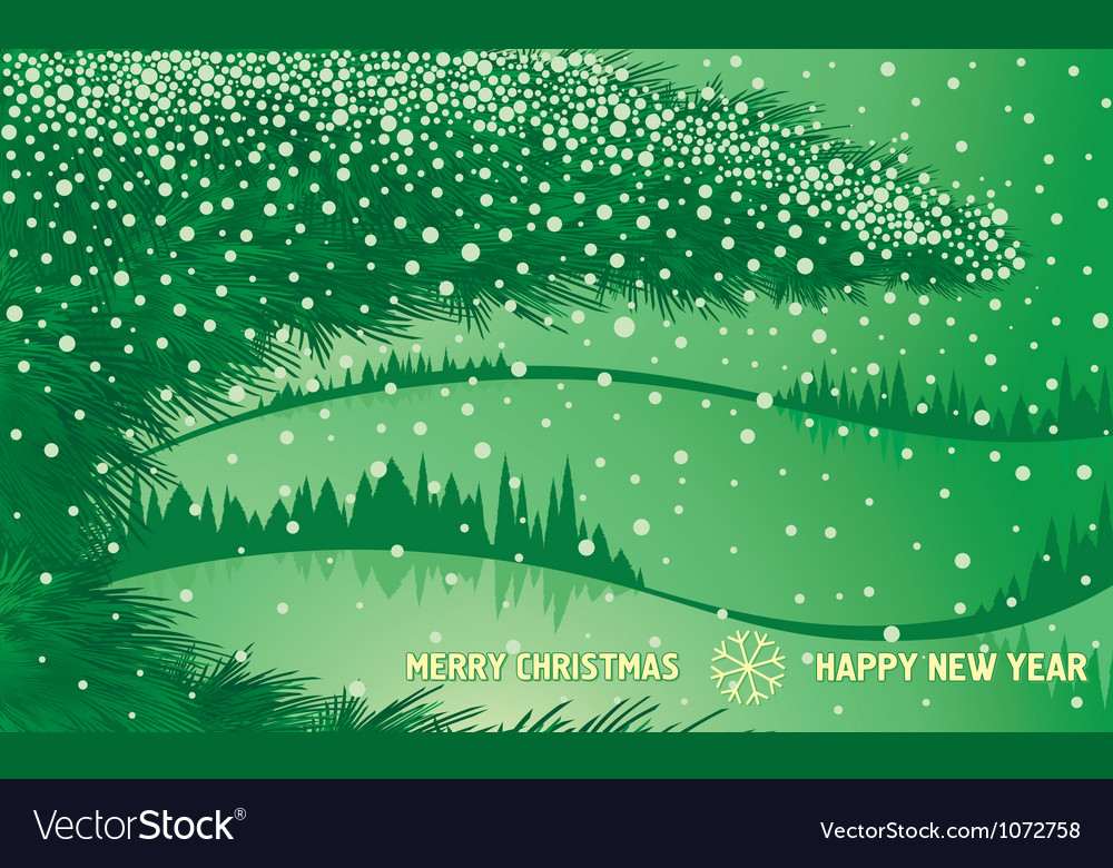 Green christmas winter forest vector | Price: 1 Credit (USD $1)