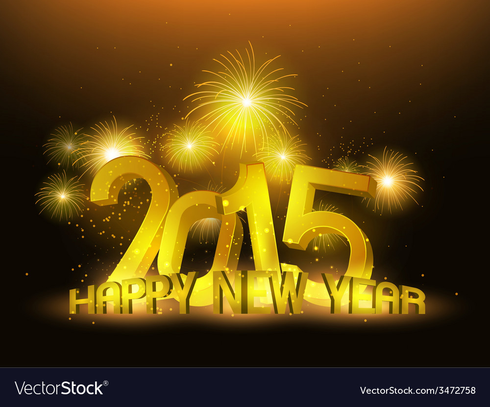 Happy new year 2015 gold platinum vector | Price: 1 Credit (USD $1)