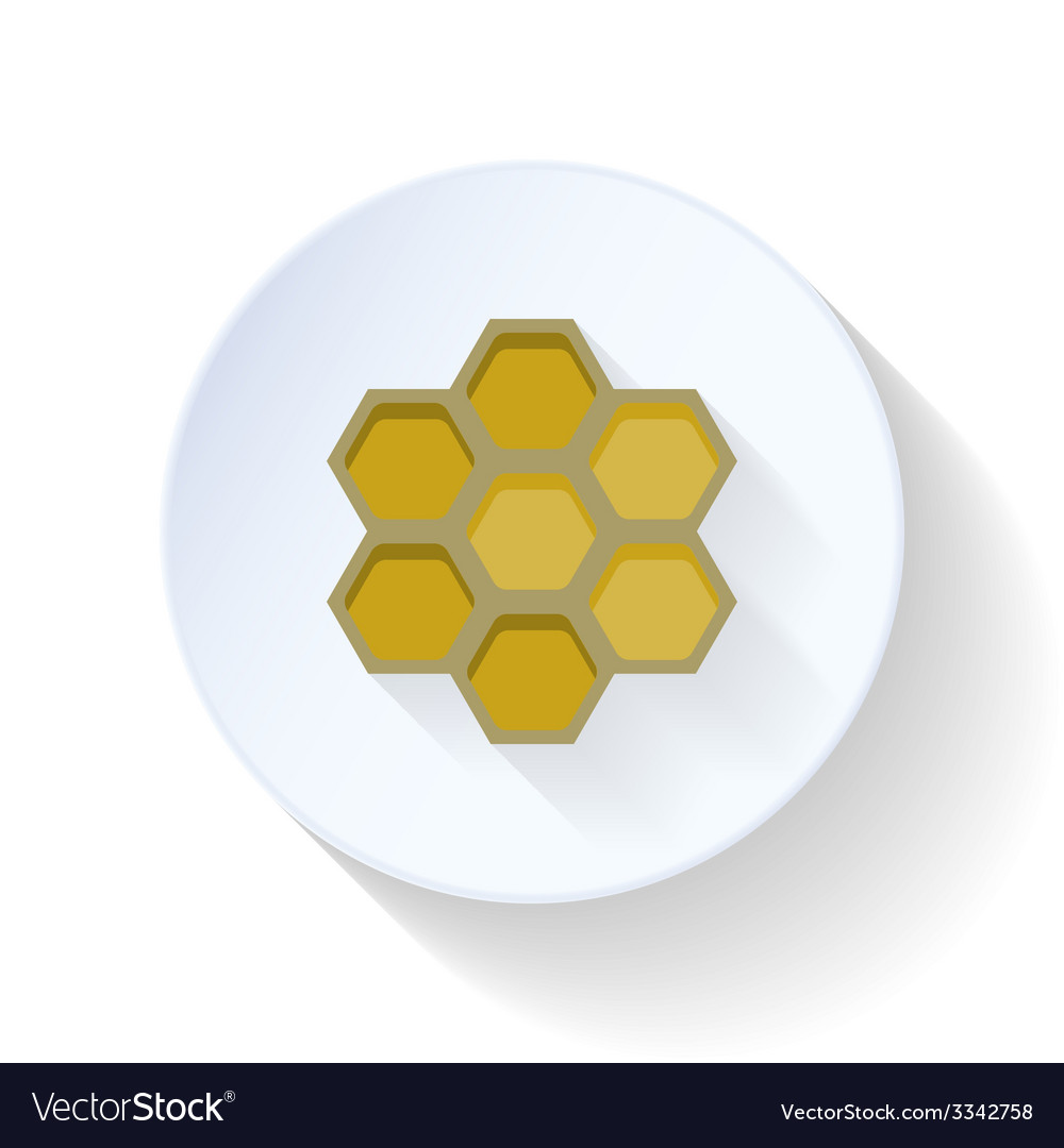 Honeycomb flat icon vector | Price: 1 Credit (USD $1)