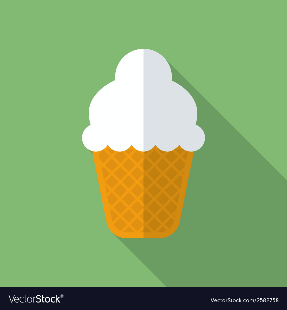 Ice cream icon modern flat style with a long vector | Price: 1 Credit (USD $1)