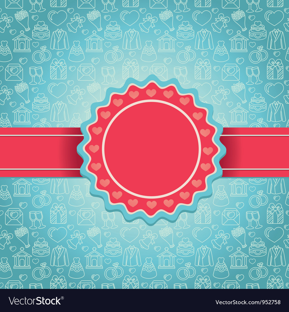 Love background with copy space for text vector | Price: 1 Credit (USD $1)