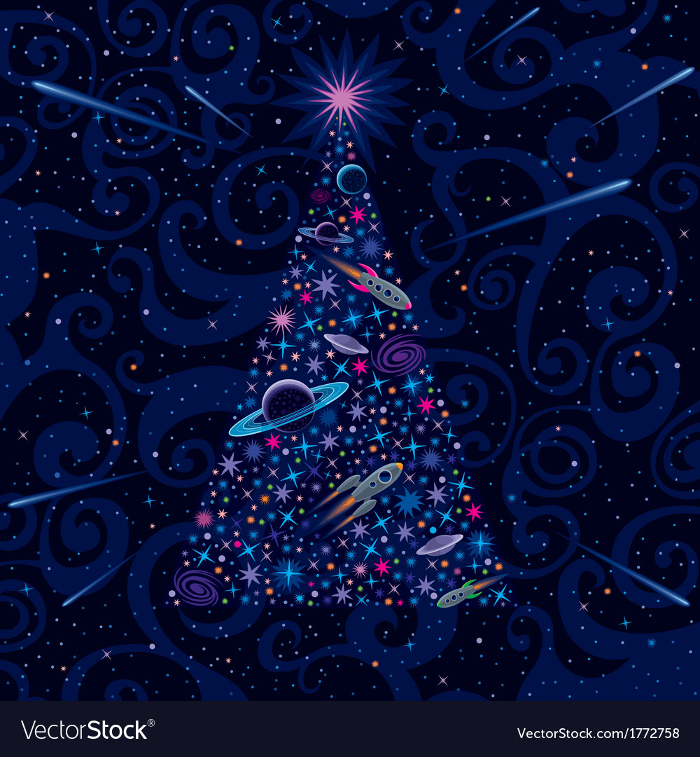 New year and christmas tree vector | Price: 1 Credit (USD $1)