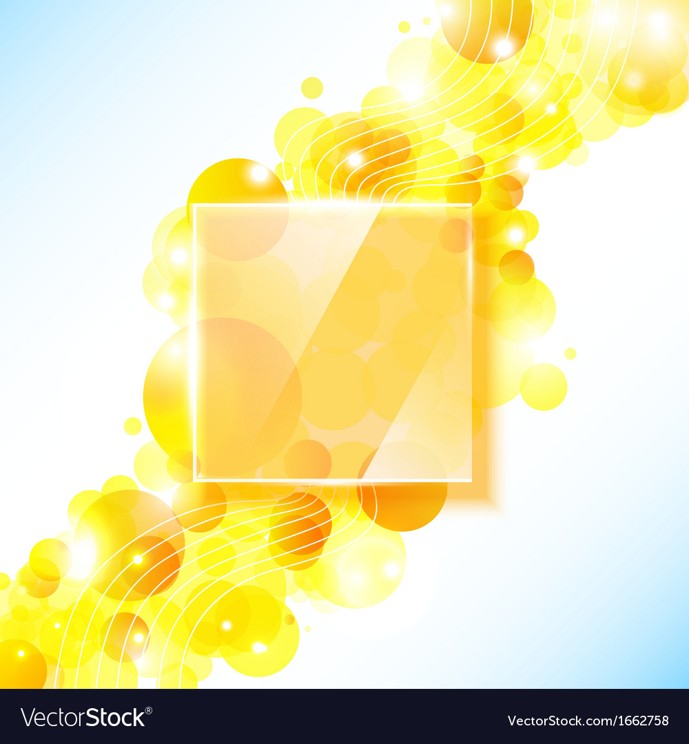 Shiny yellow geometric background with glass panel vector | Price: 1 Credit (USD $1)