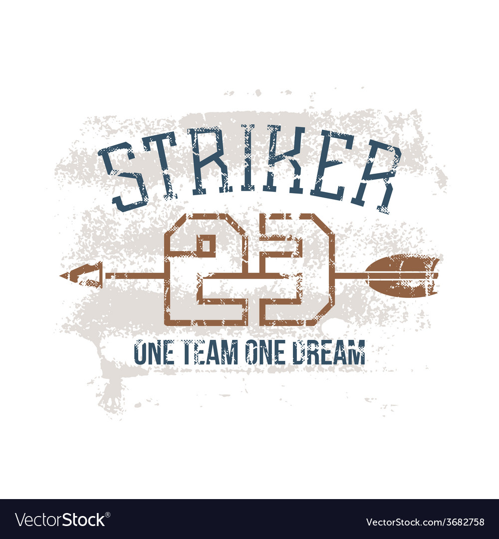 Sports print striker vector | Price: 1 Credit (USD $1)
