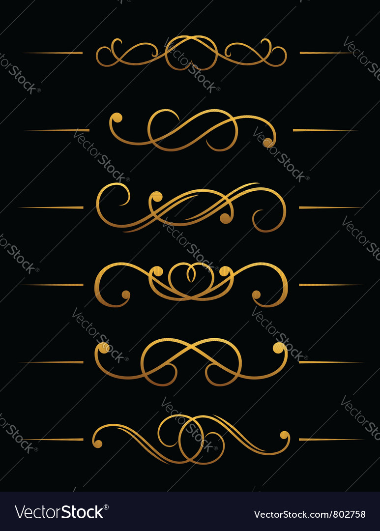 Vintage ornamental embellishments vector | Price: 1 Credit (USD $1)