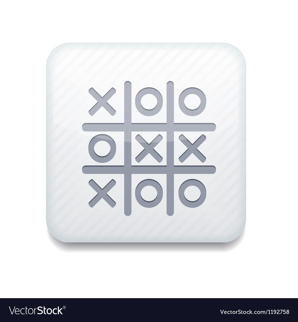White tic tac toe icon eps10 easy to edit vector | Price: 1 Credit (USD $1)