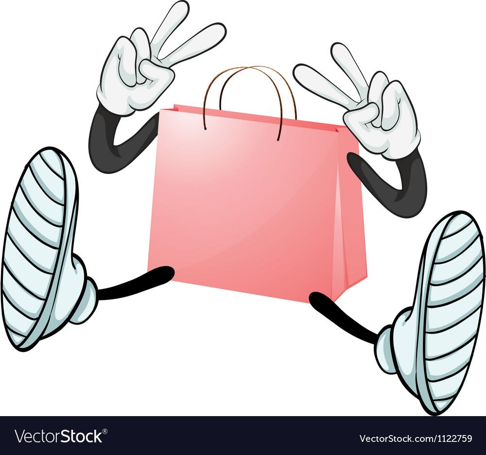 A pink bag vector | Price: 1 Credit (USD $1)