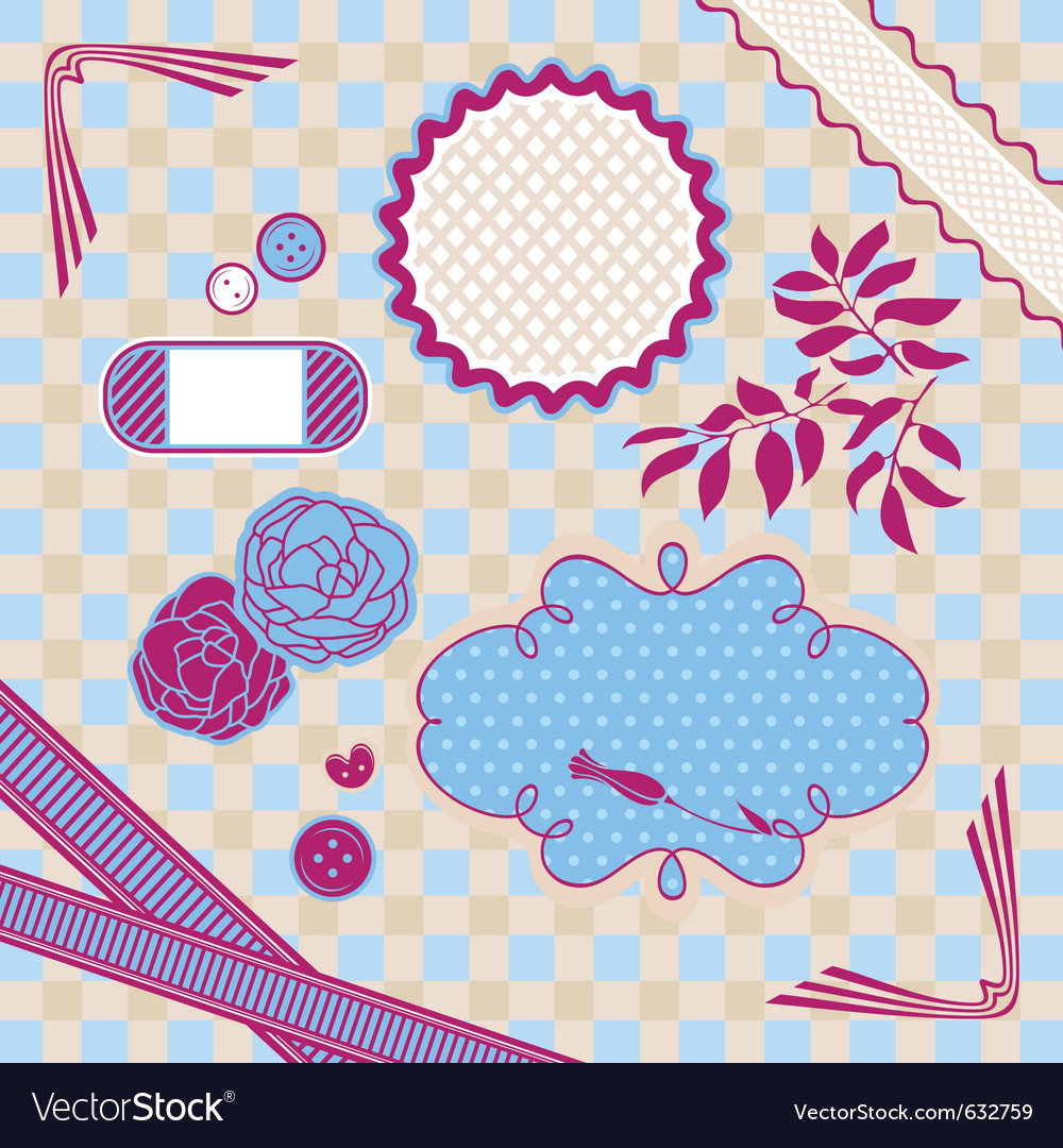 Abstract cute baby frame design elements vector | Price: 1 Credit (USD $1)
