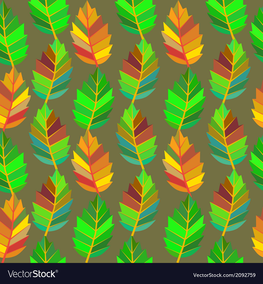 Background of leaves seamless vector | Price: 1 Credit (USD $1)
