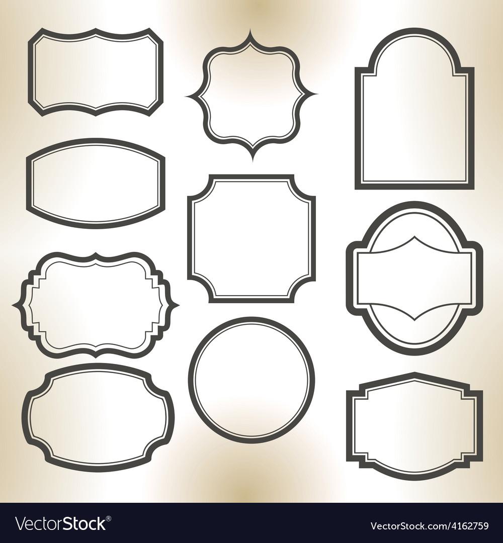 Big elegant frame set vector | Price: 1 Credit (USD $1)