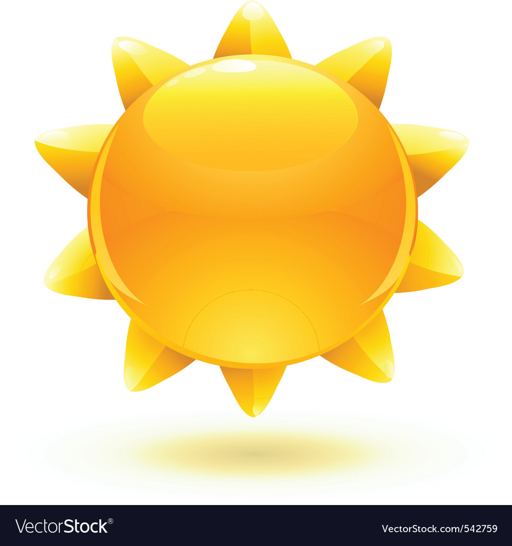 Cartoon summer sun vector | Price: 1 Credit (USD $1)