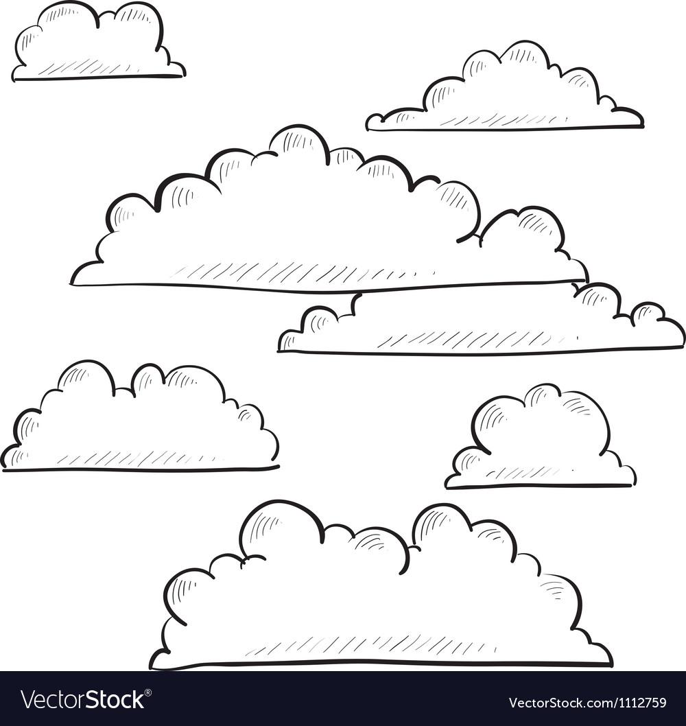 Doodle clouds vector | Price: 1 Credit (USD $1)
