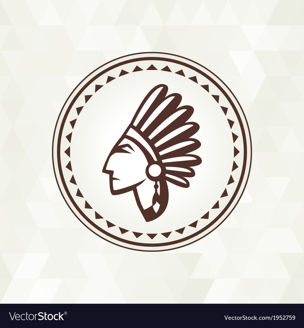Ethnic background with indian profile in navajo vector | Price: 1 Credit (USD $1)