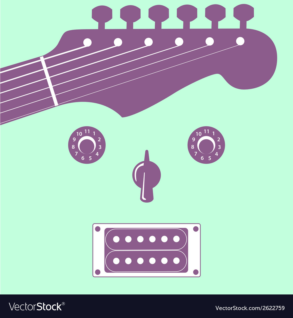 Funky guitar face vector | Price: 1 Credit (USD $1)