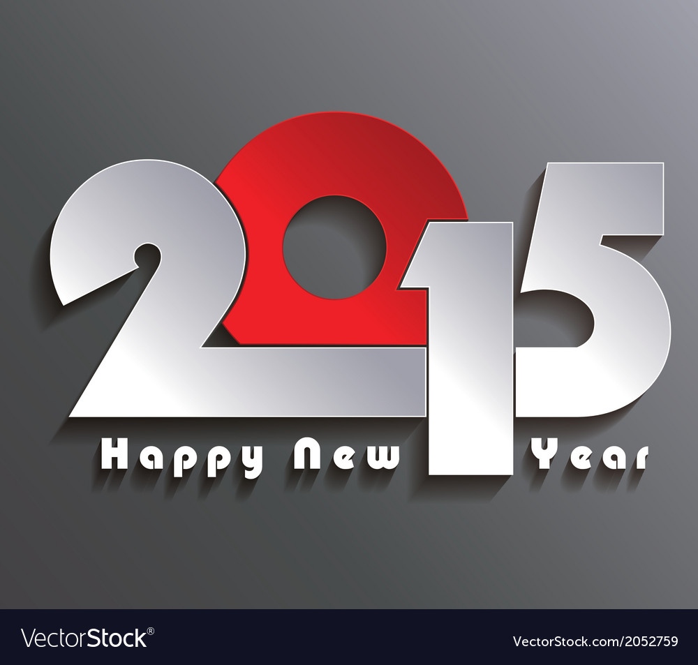 Happy new year 2015 creative greeting card design vector | Price: 1 Credit (USD $1)