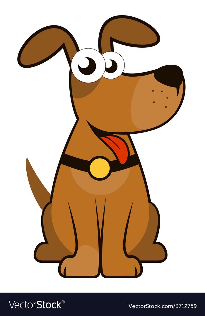 Isolated cartoon dog vector | Price: 1 Credit (USD $1)