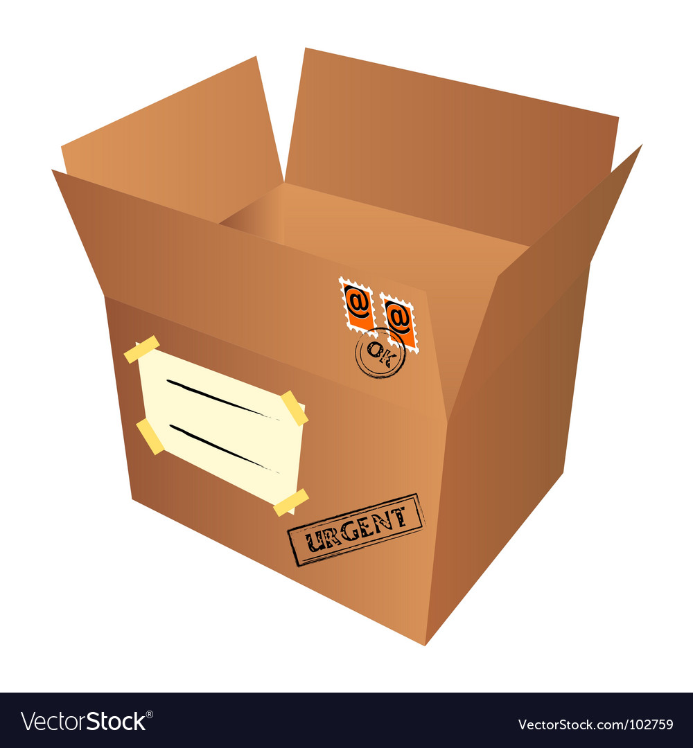 Mail package vector | Price: 1 Credit (USD $1)