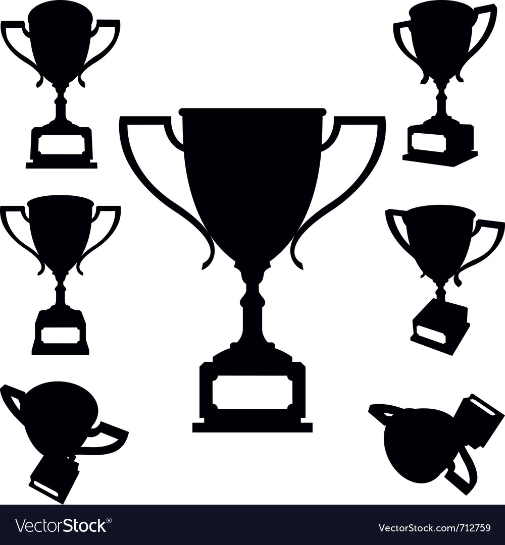 Sport cups silhouettes vector | Price: 1 Credit (USD $1)