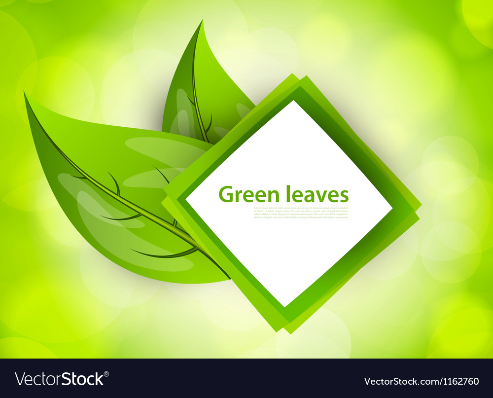 Abstract icon with leaves vector | Price: 1 Credit (USD $1)