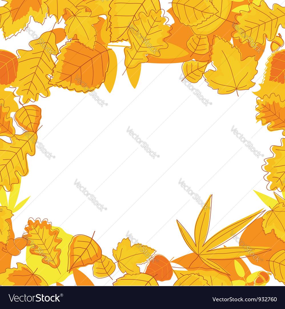 Autumnal seasonal frame vector | Price: 1 Credit (USD $1)