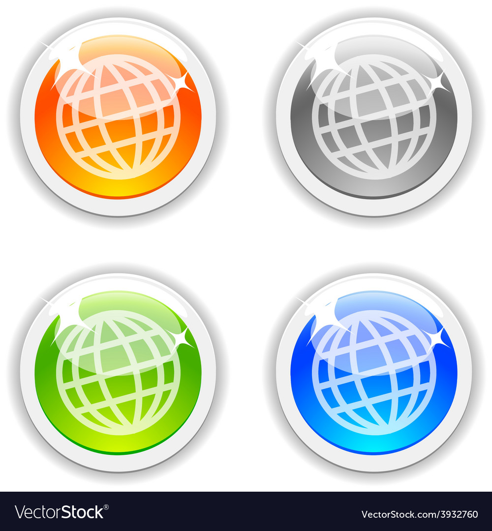Earth buttons vector | Price: 1 Credit (USD $1)