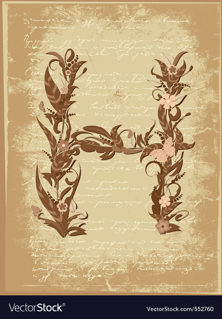 Floral letter vector | Price: 1 Credit (USD $1)