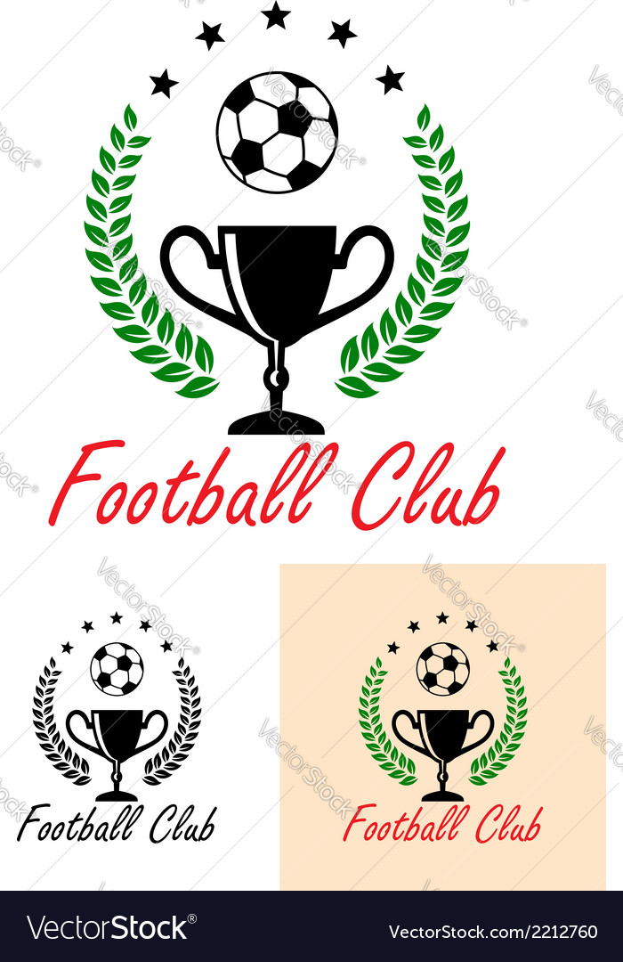 Football club championship emblem or icon vector | Price: 1 Credit (USD $1)