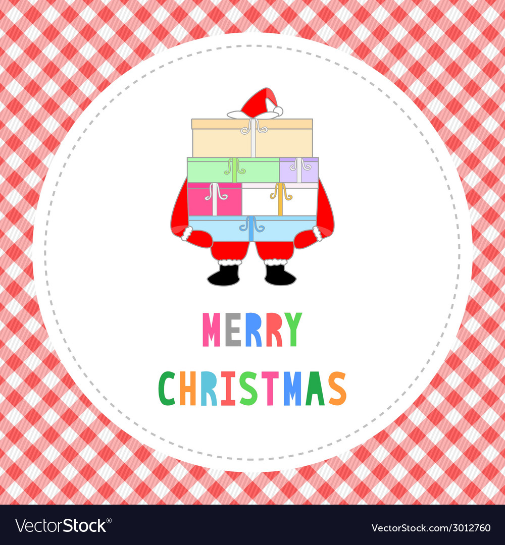 Merry christmas greeting card32 vector | Price: 1 Credit (USD $1)