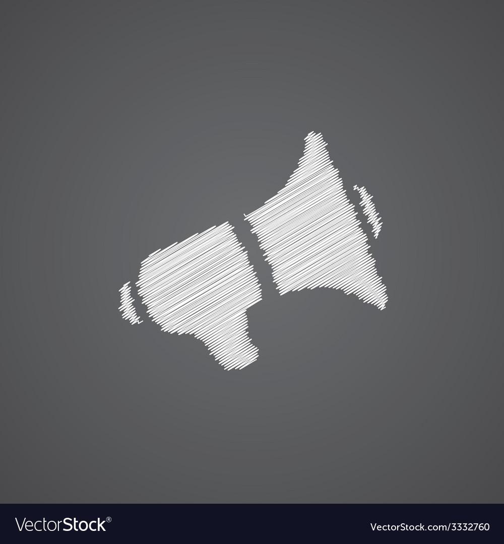 Speaker sketch logo doodle icon vector   Price: 1 Credit (USD $1)