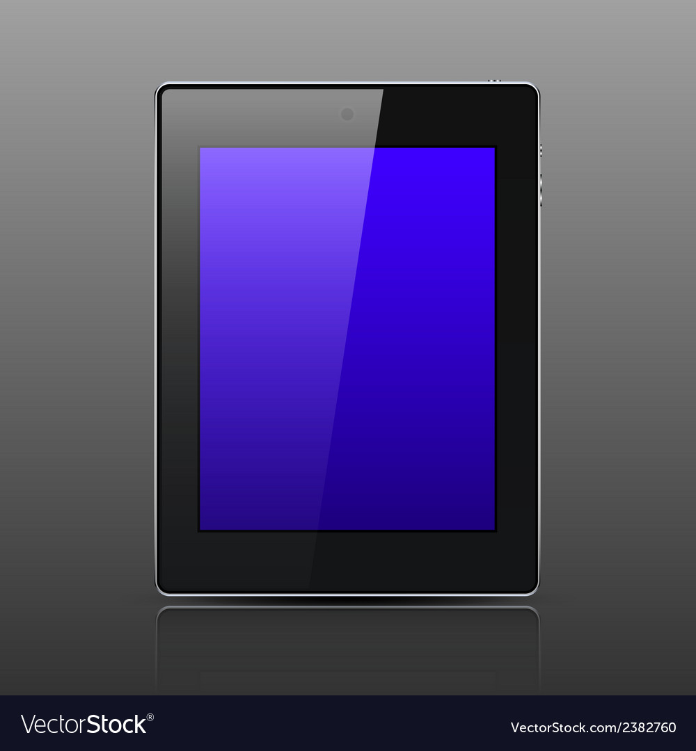 Tablet computer black color vector | Price: 1 Credit (USD $1)
