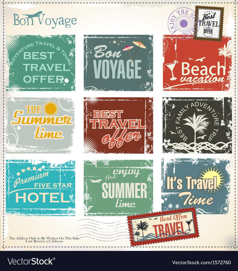 Vintage summer labels vector | Price: 3 Credit (USD $3)