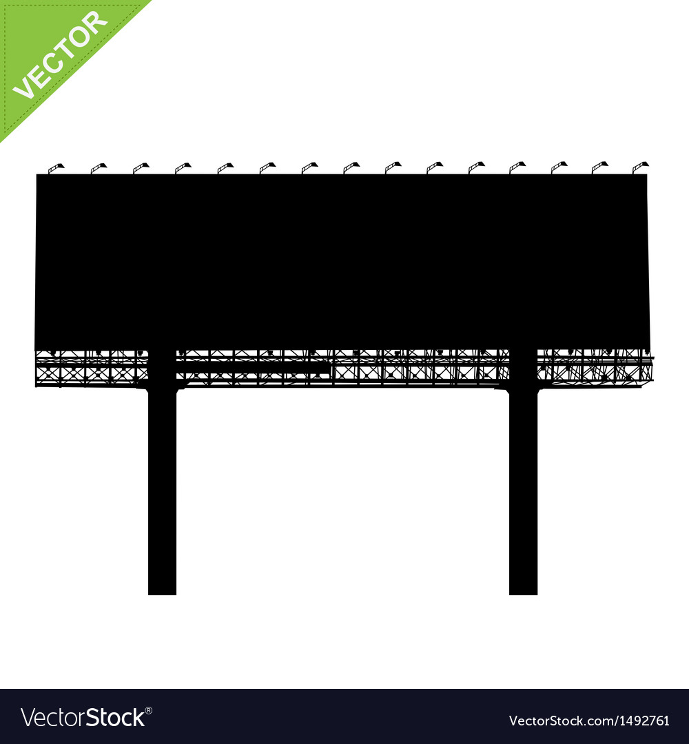 Advertising billboard silhouettes vector | Price: 1 Credit (USD $1)