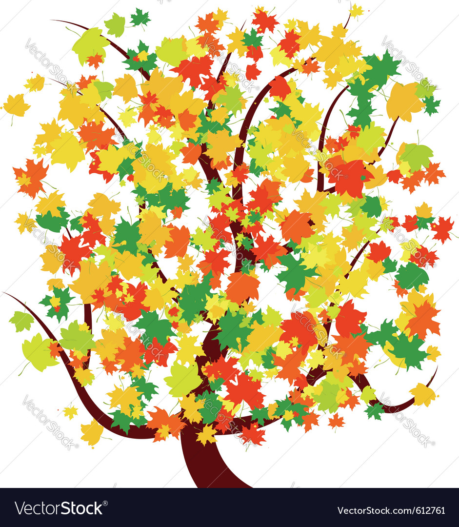 Autumn - fall tree vector | Price: 1 Credit (USD $1)