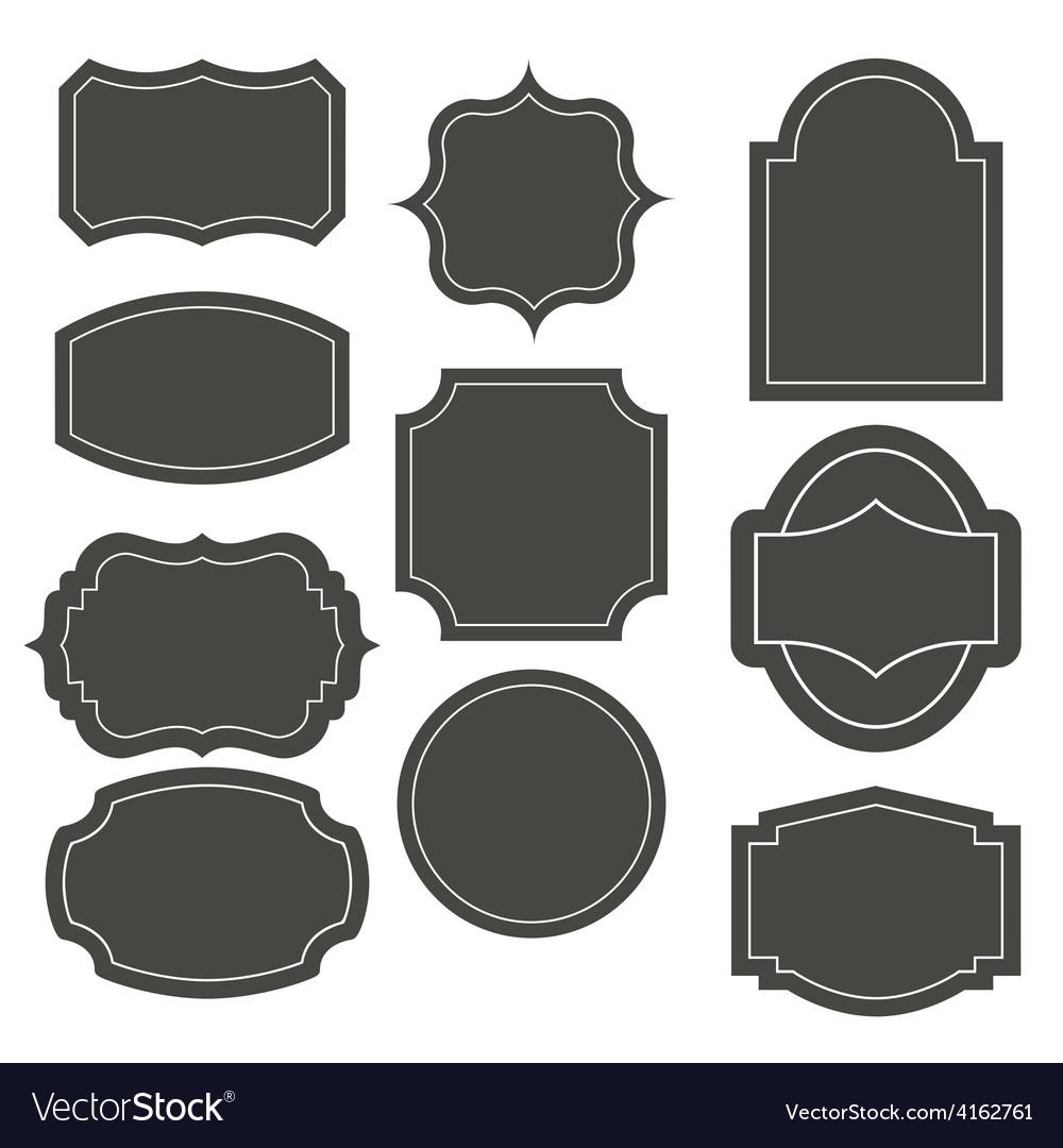 Big elegant frame set vector