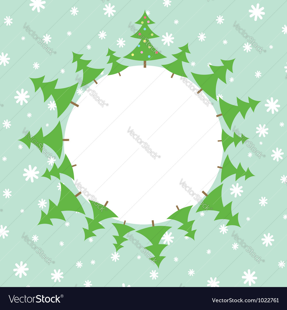 Christmas tree in the snow vector | Price: 1 Credit (USD $1)