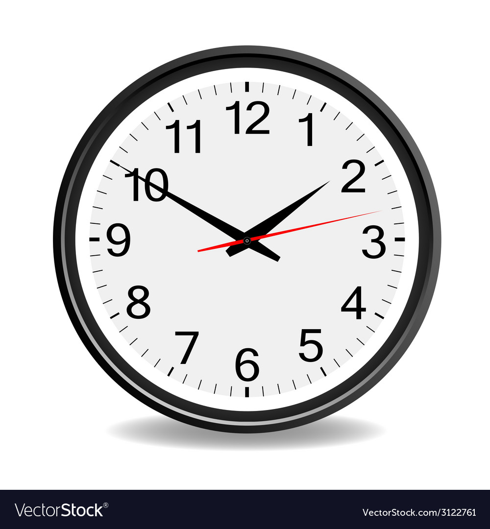 Clock black vector | Price: 1 Credit (USD $1)