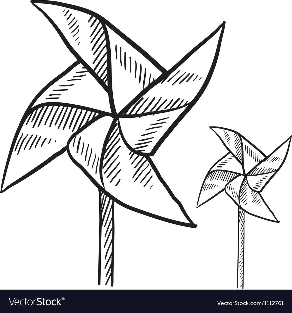 Doodle pinwheel vector   Price: 1 Credit (USD $1)