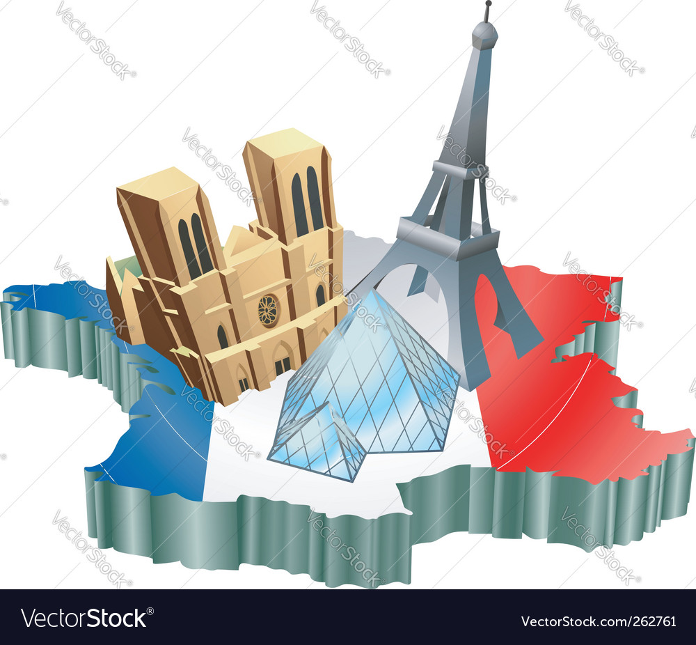 French tourism vector | Price: 1 Credit (USD $1)
