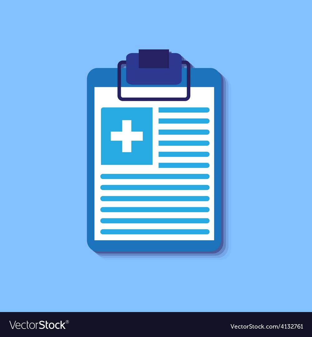 Medical report vector | Price: 1 Credit (USD $1)