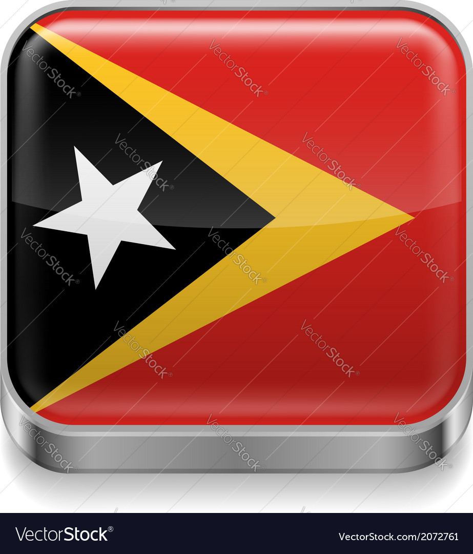 Metal icon of east timor vector | Price: 1 Credit (USD $1)