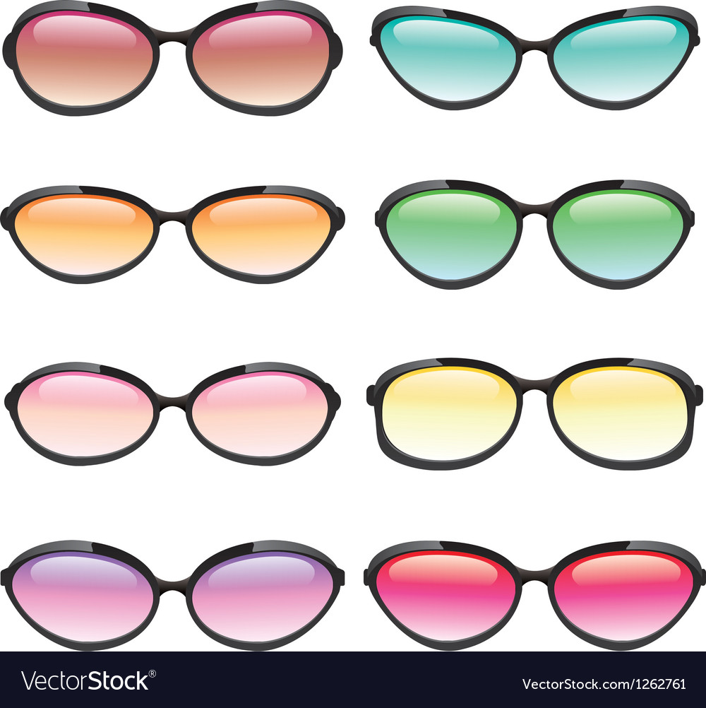 Set of sunglasses vector | Price: 1 Credit (USD $1)