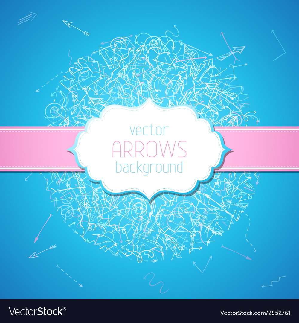 Sketchy arrows background vector | Price: 1 Credit (USD $1)