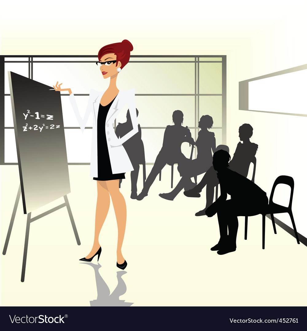 Teacher illustration vector | Price: 1 Credit (USD $1)