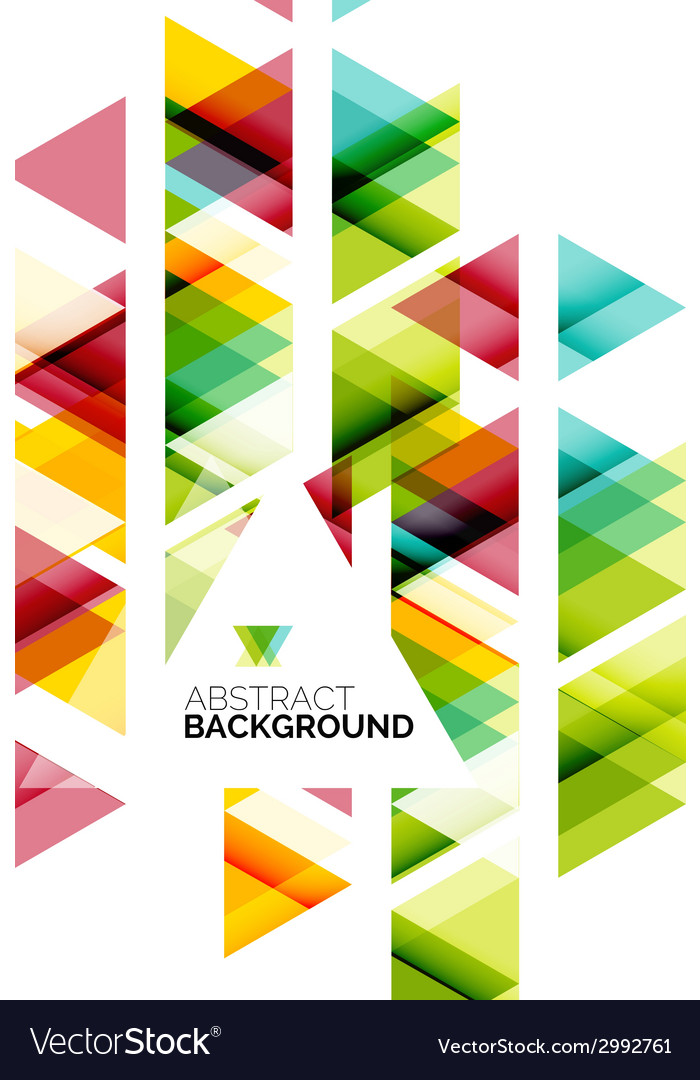 Triangle geometric abstract background vector | Price: 1 Credit (USD $1)