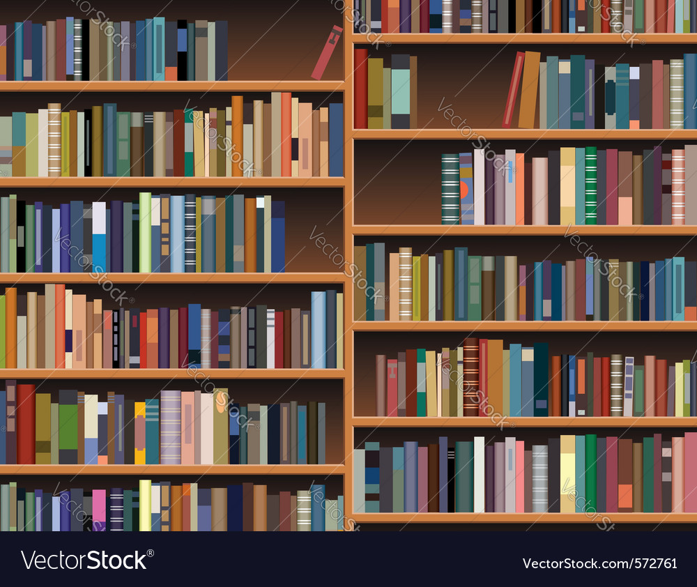 Wooden bookshelf vector | Price: 1 Credit (USD $1)