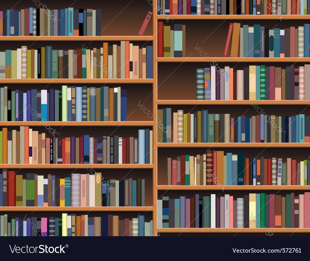 Wooden bookshelf vector | Price: 1 Credit (USD $1)