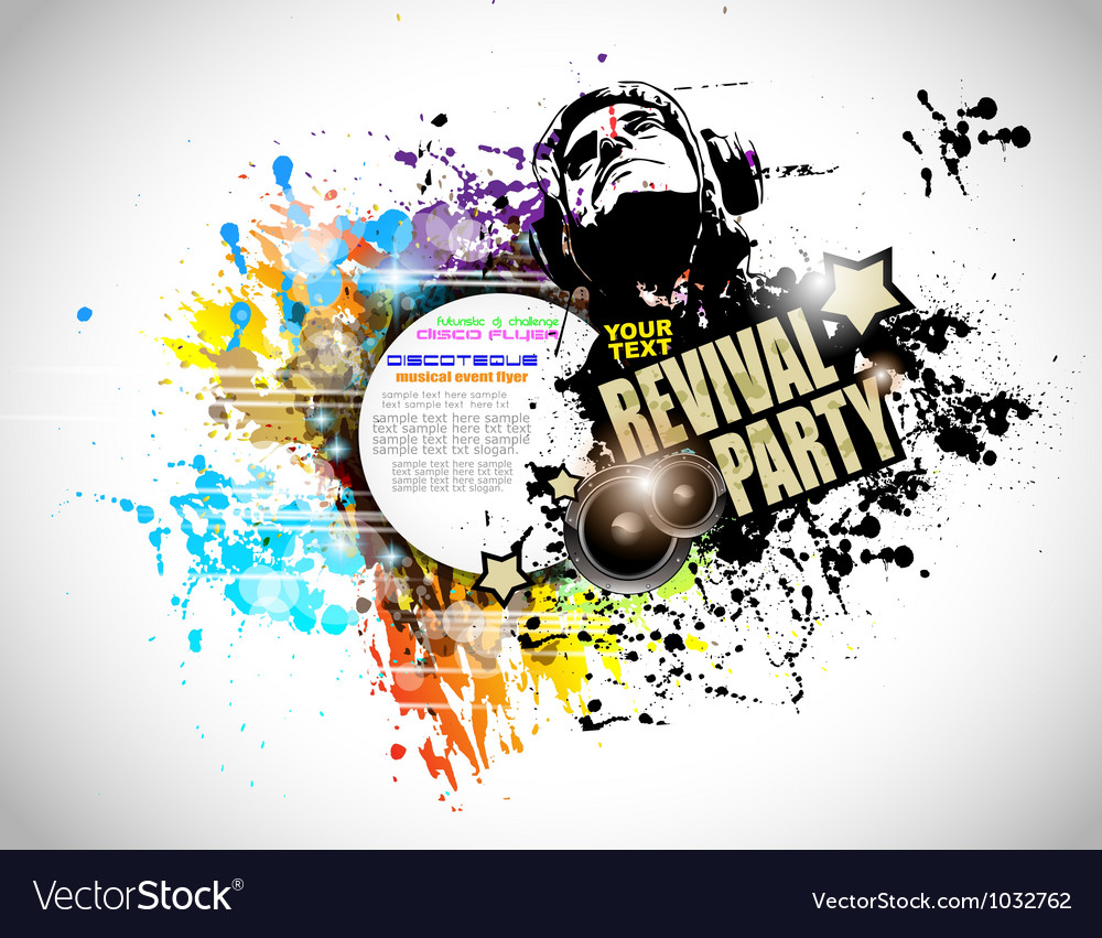 Abstract disco club flyer vector | Price: 1 Credit (USD $1)