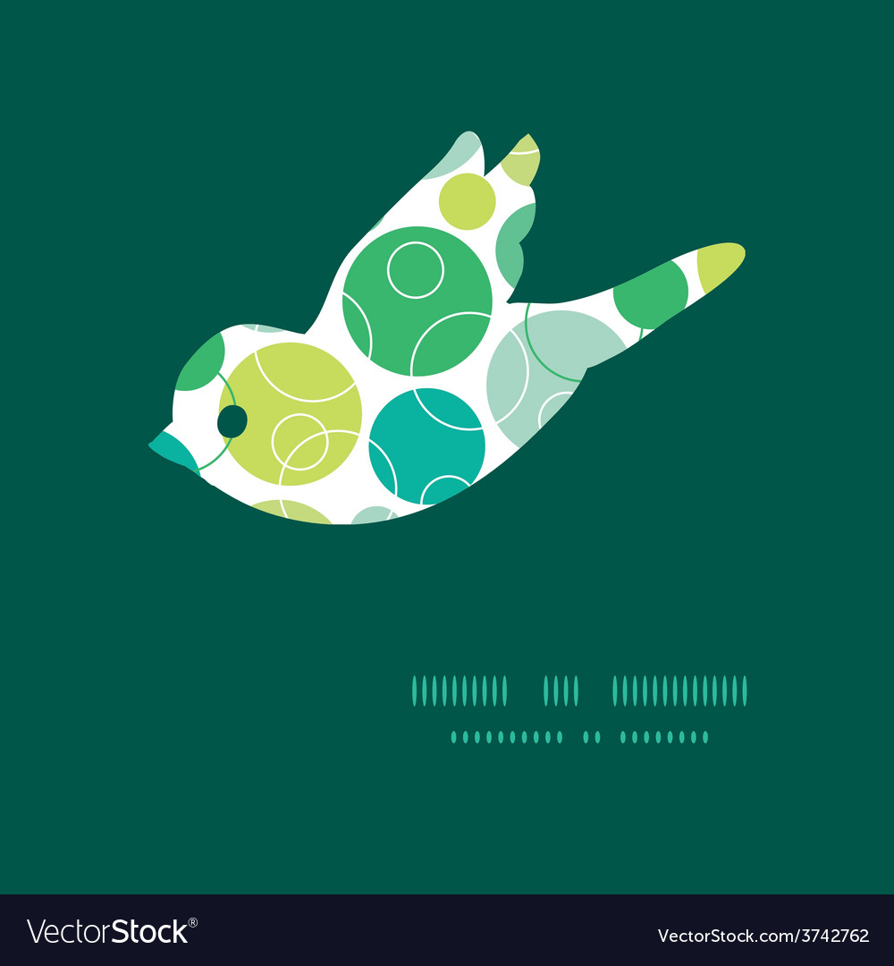 Abstract green circles bird silhouette vector | Price: 1 Credit (USD $1)