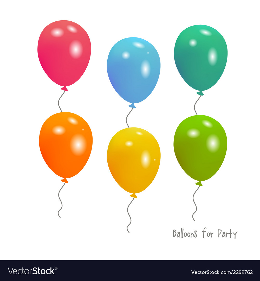 Balloons for party vector | Price: 1 Credit (USD $1)