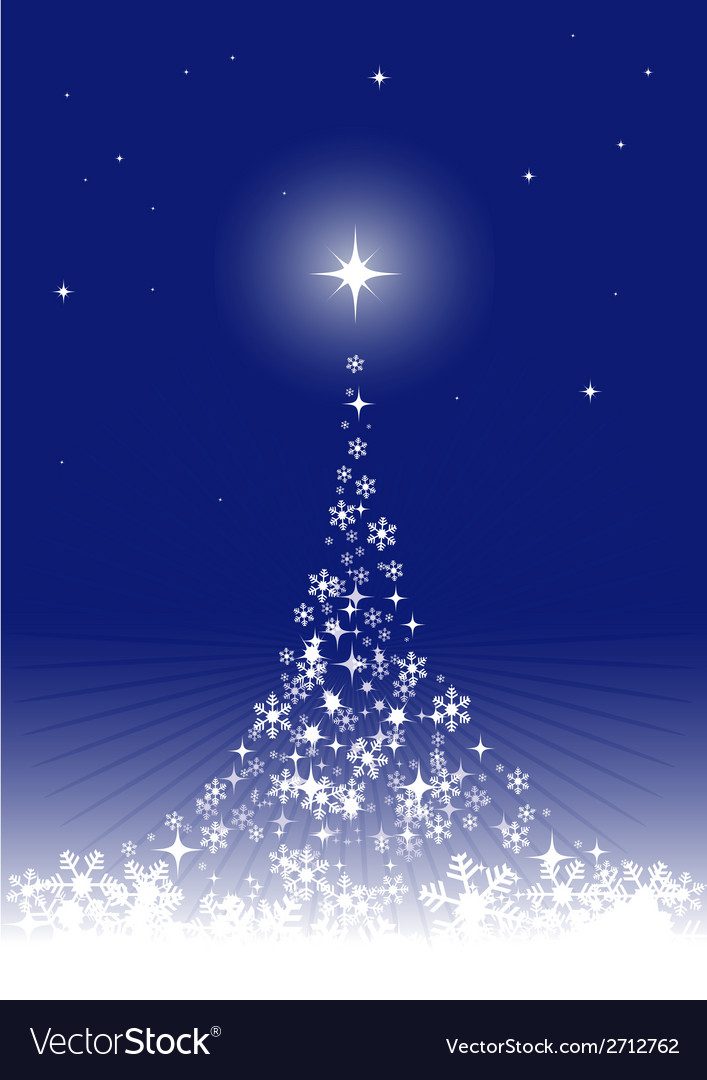 Dreamful christmas tree vector | Price: 1 Credit (USD $1)